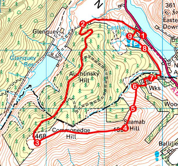 Take a Hike 113 - May 21, 2016 - Seamab Hill, Glen Devon, Clackmannanshire OS map extract