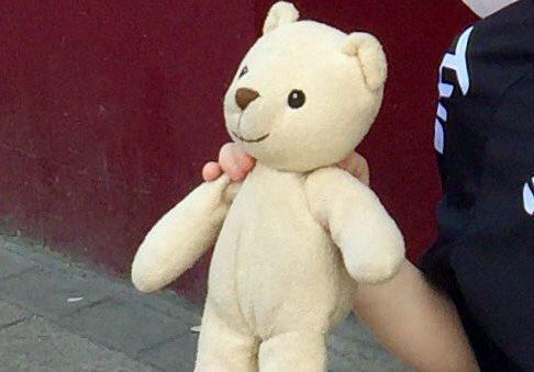Teddy in happier times.