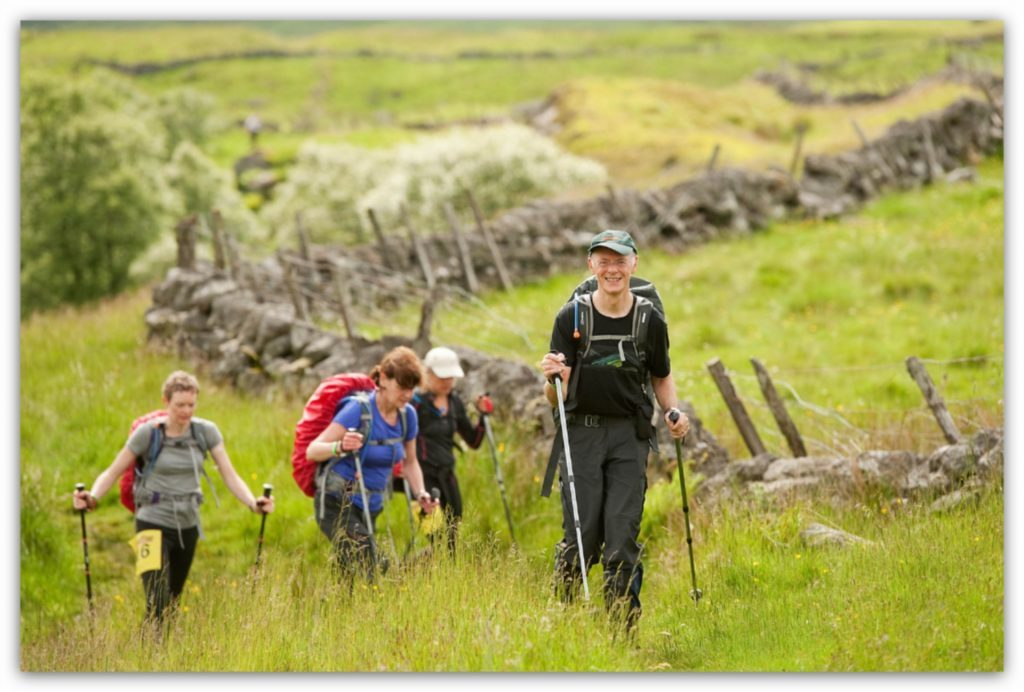 Tim Heilbronn and his team stride along the Cateran Yomp route.