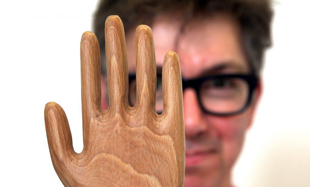 Graham Pullin, organiser of Dundee Design Festival Hands of X project.