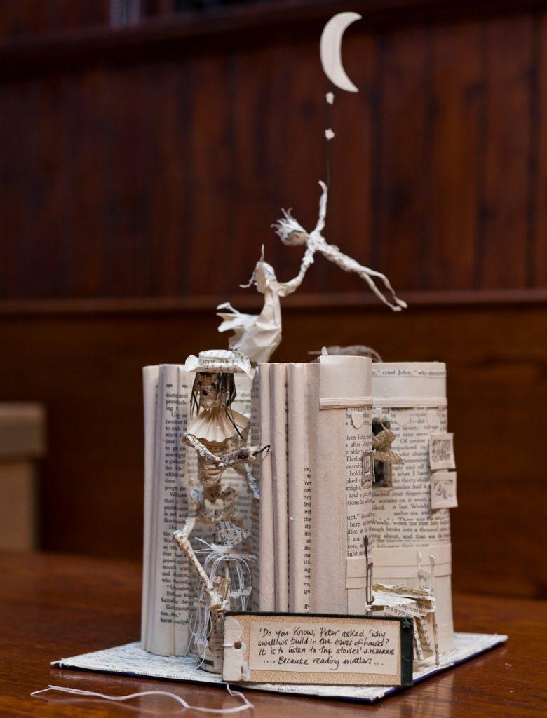 The book sculpture, ordinarily kept in Edinburgh.