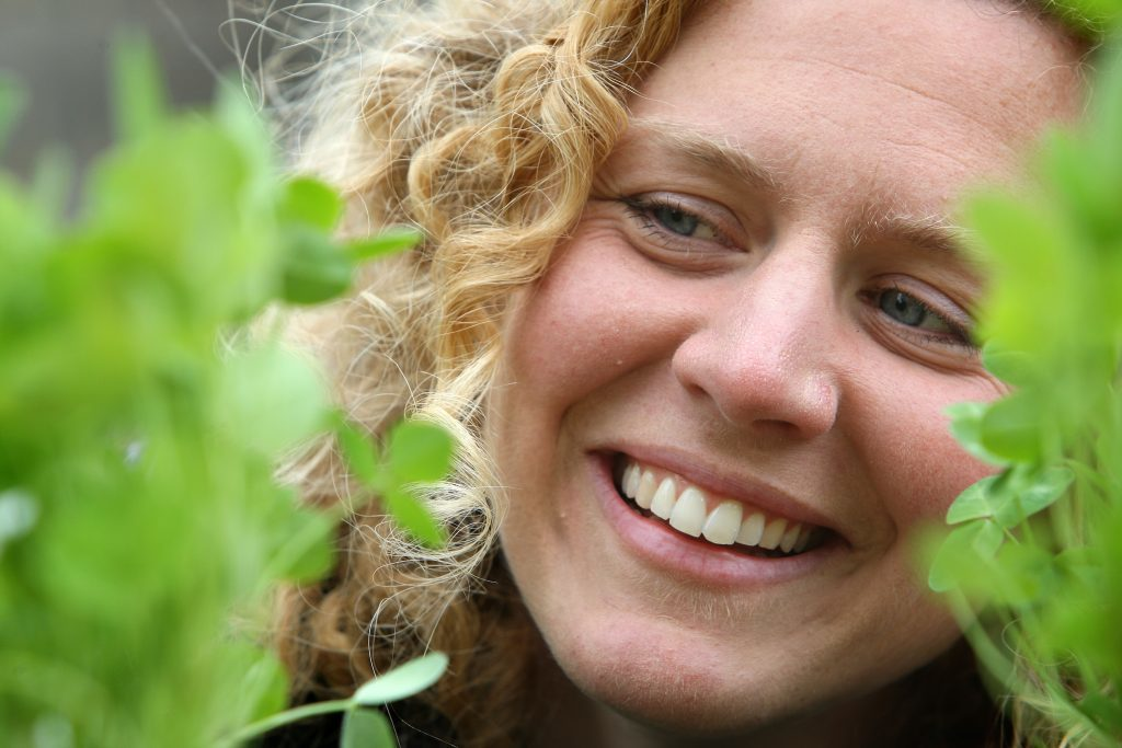 Johanna Willi - bio diversity officer with Fife Council, helping at the planting project
