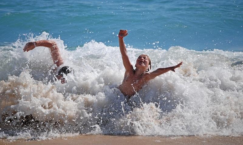 The joys of beach life
