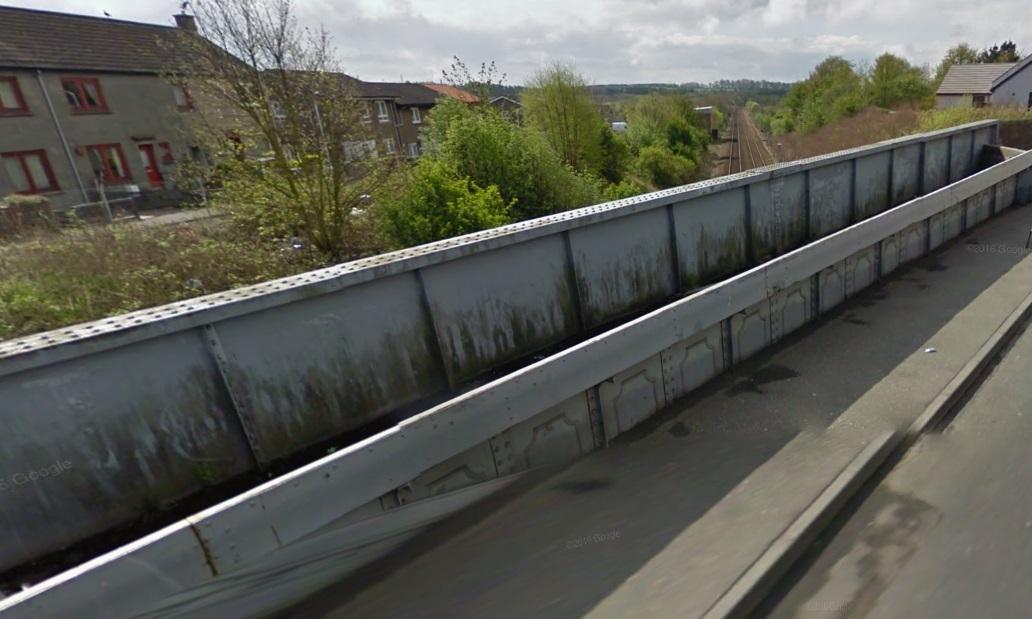 The railway bridge at Broad Street in Cowdenbeath.