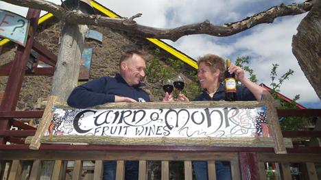 Ron & Judith Gillies toast Cairn O'Mohr's  success