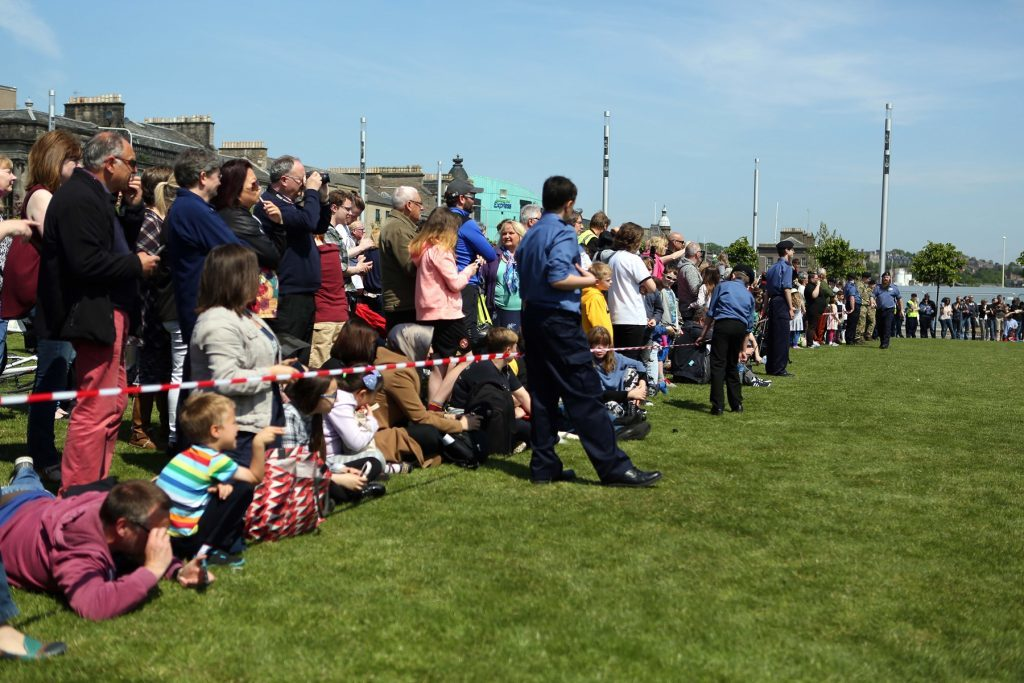Crowds gather on Sunday for the spectacular finale.