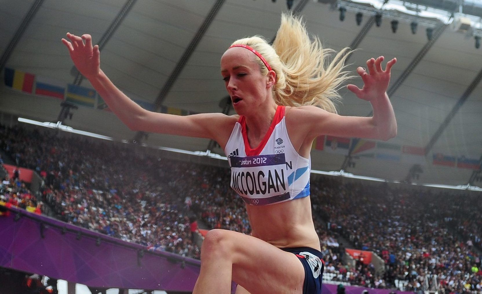 Eilish McColgan competes in the London Olympics.