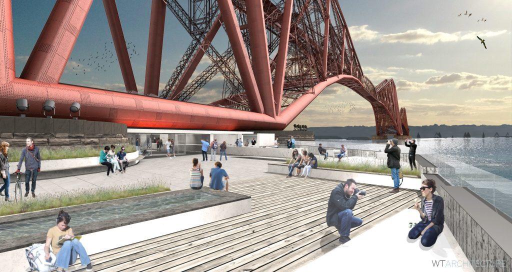 Visitor centre proposals at the Forth Rail Bridge