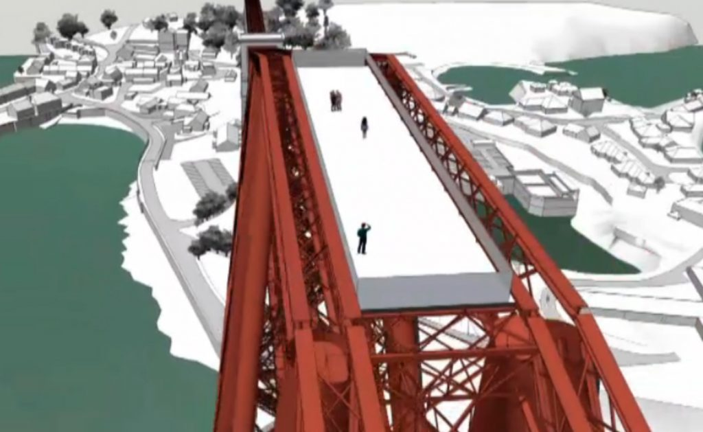 """Plans have been unveiled for a viewing platform at the top of the Forth Bridge to give visitors a """"close-up"""" look at one of Scotland's most famous sights."""