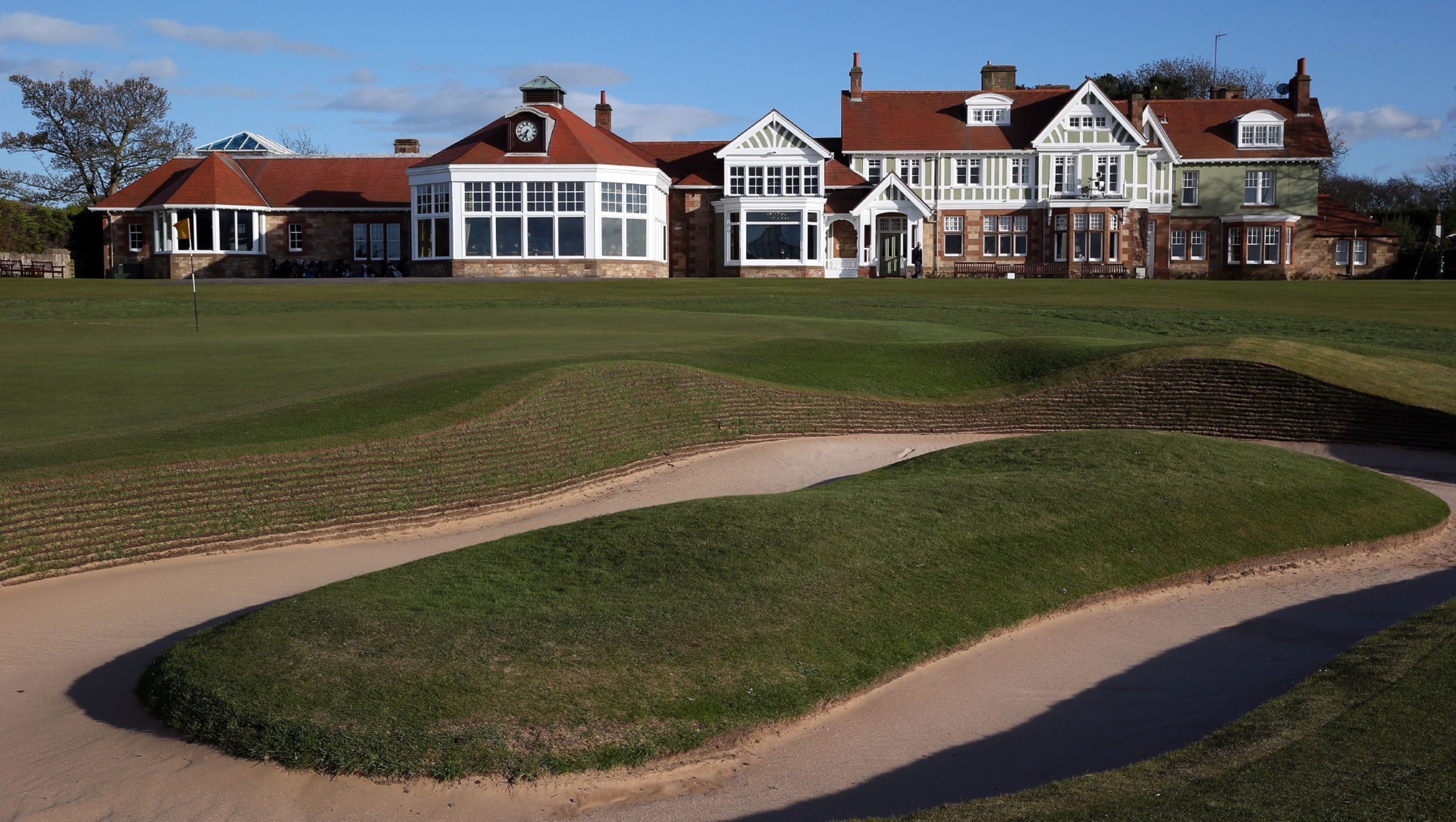 The Honourable Company of Edinburgh Golfers' clubhouse at Muirfield.