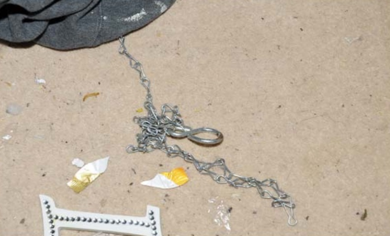 A chain was used to restrain the children.