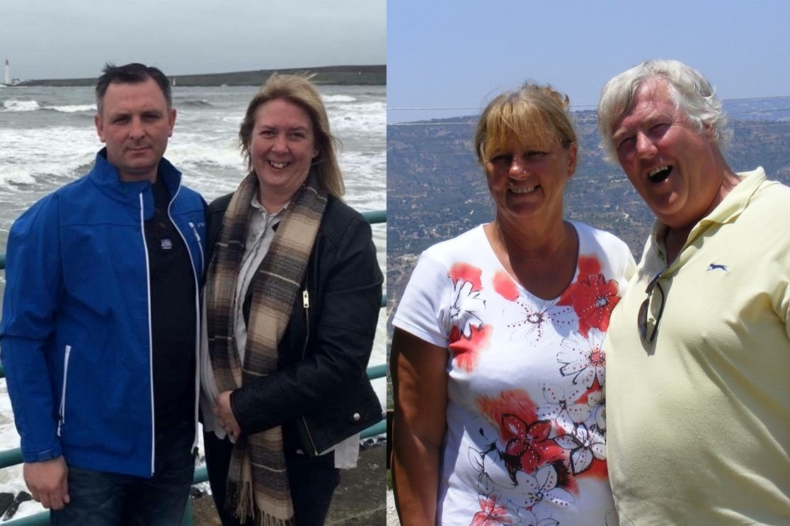 Debbie and Mark Chalmers, and Rod and Sue Ellis.