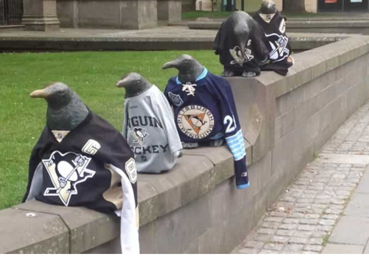 Dundee Stars pay tribute to the Pittsburgh Penguins ahead of tonight's Stanley Cup final