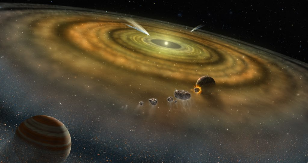 The formation of our solar system 4.5 billion years ago