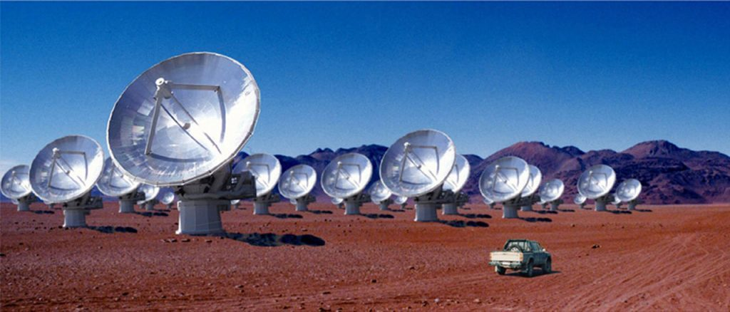 The ALMA space telescopes visited by Professor Sargent in Chile