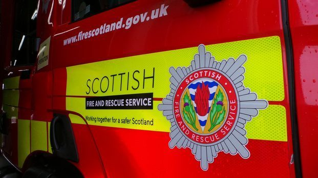 Scottish Fire and Rescue were forced to rescue one passenger following the crash.
