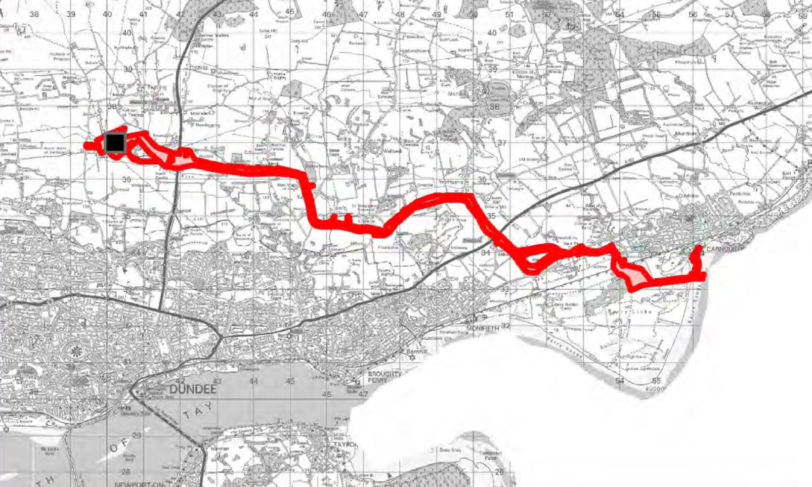 Cabling will run from Carnoustie to a Tealing sub-station.