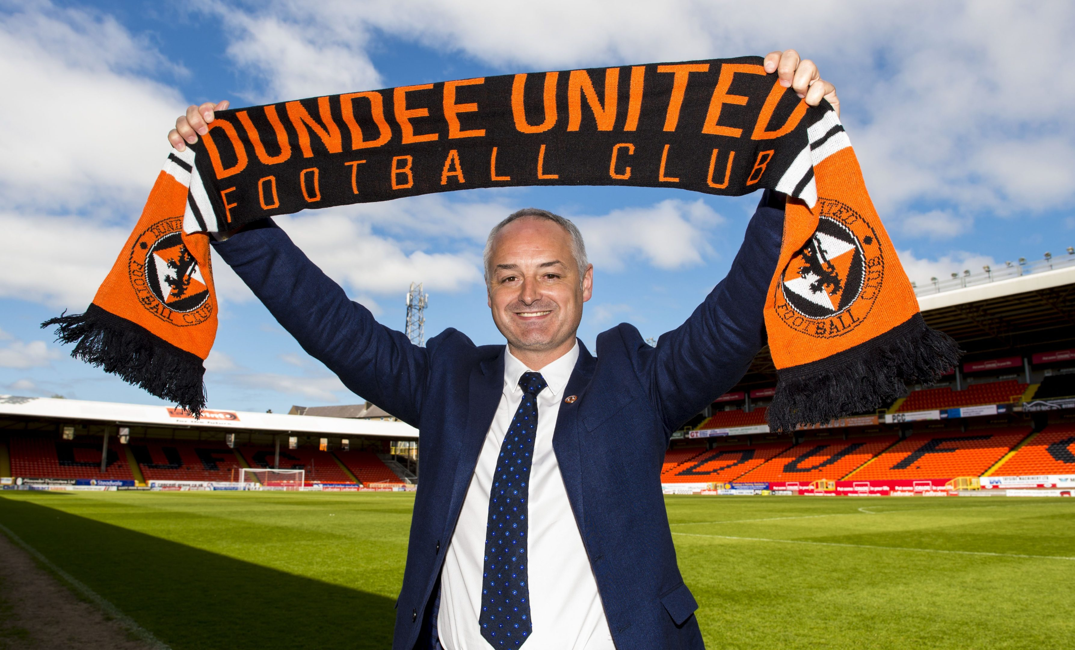 A happy Ray McKinnon on the day of his appointment.