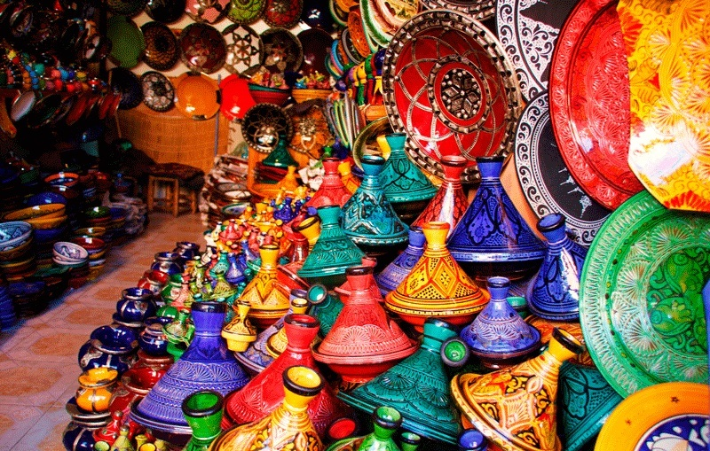 Souks and bazaars in Morocco