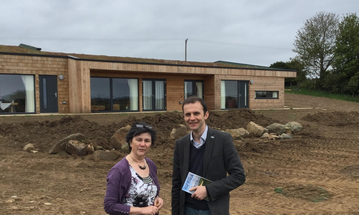 Moira Henderson with North East Fife MP Stephen Gethins.