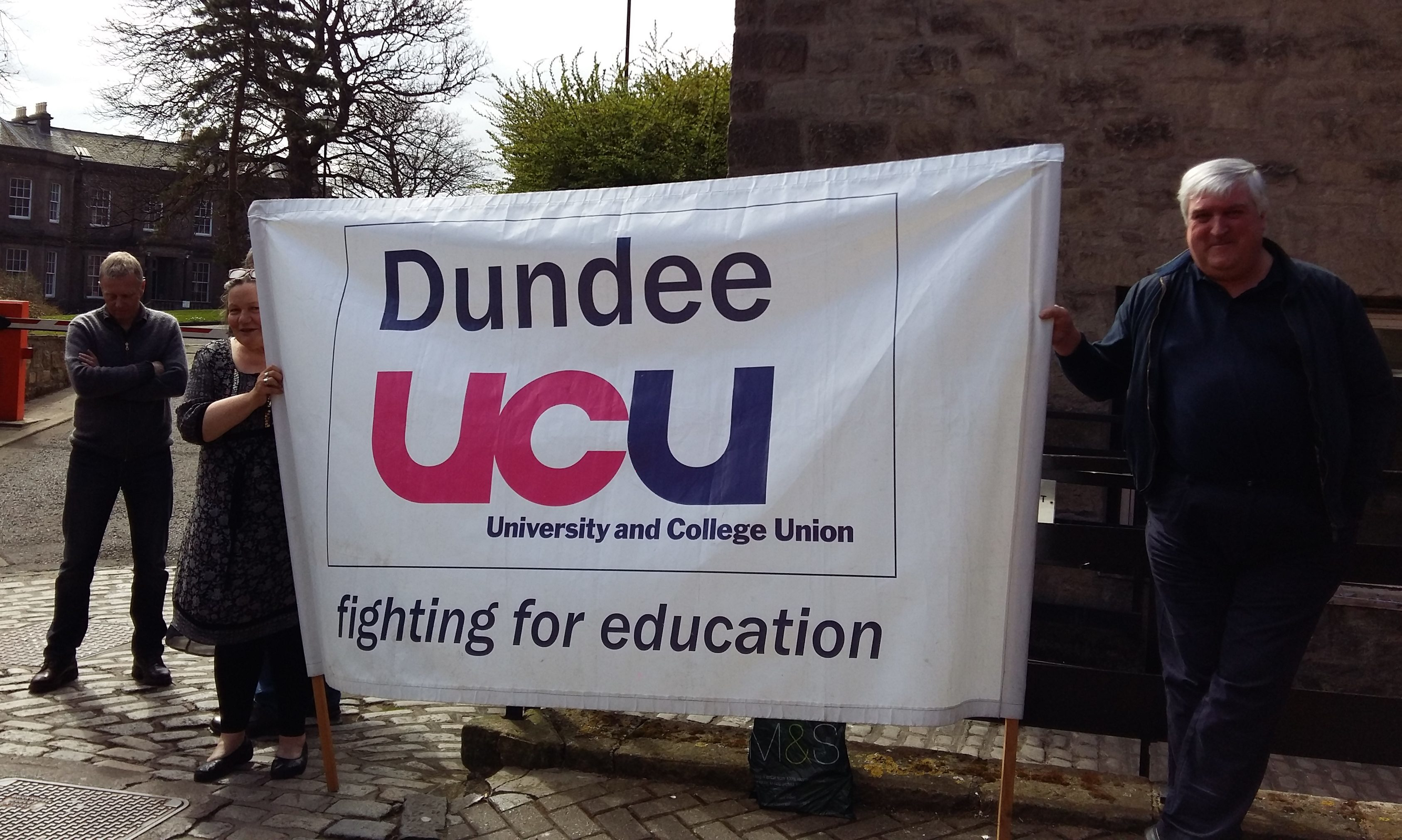 Dundee UCU members have been involved in the ongoing dispute.