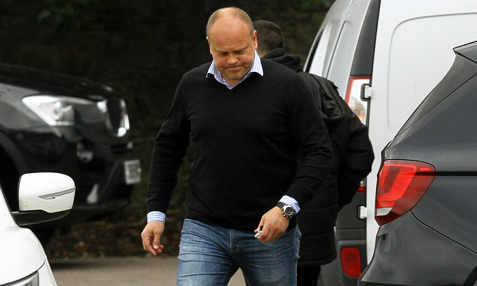 Mixu Paatelainen heads off after saying his goodbyes to the Dundee United squad.