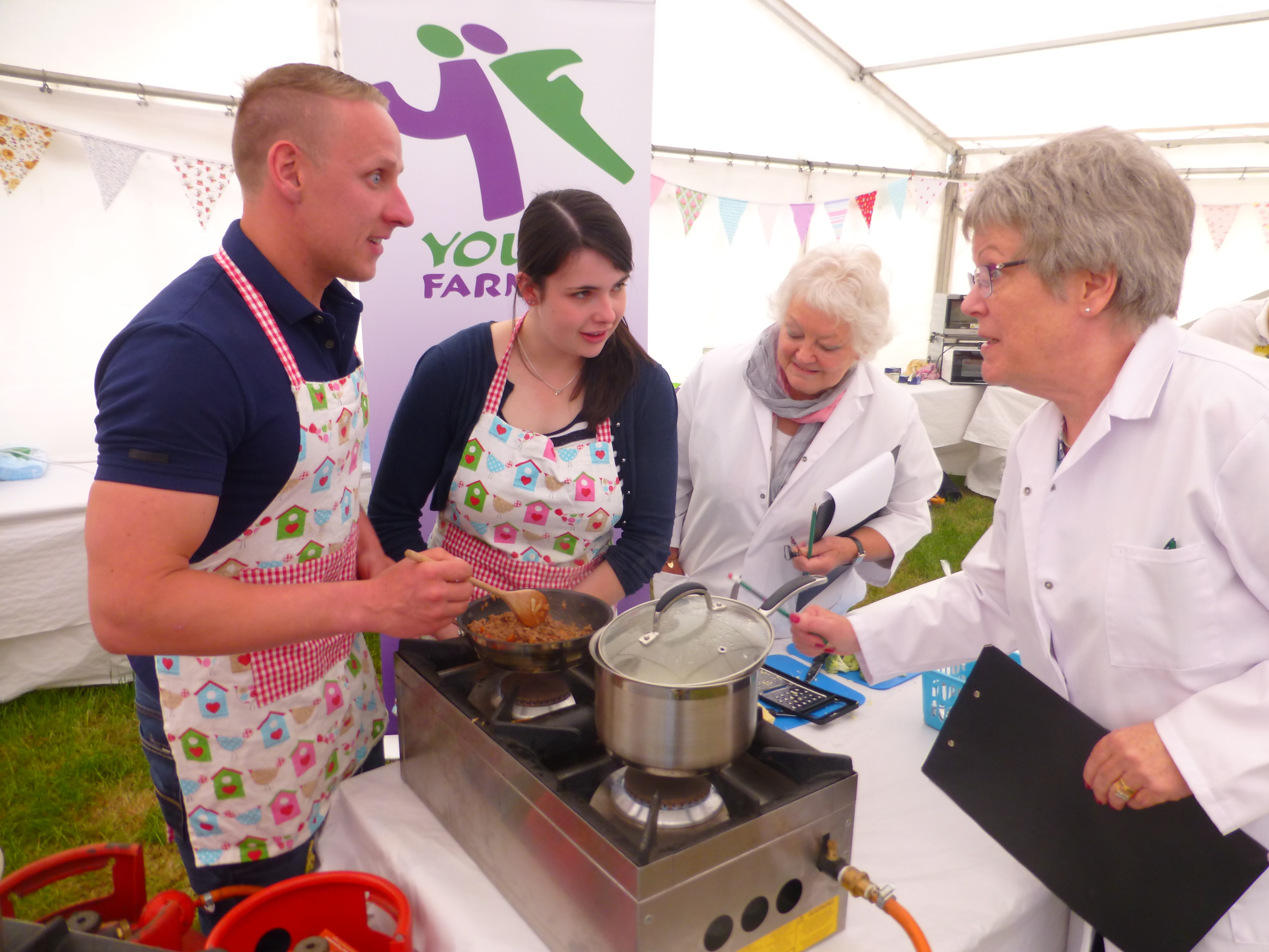 Young farmers cookery teams faced scrutiny from the judges