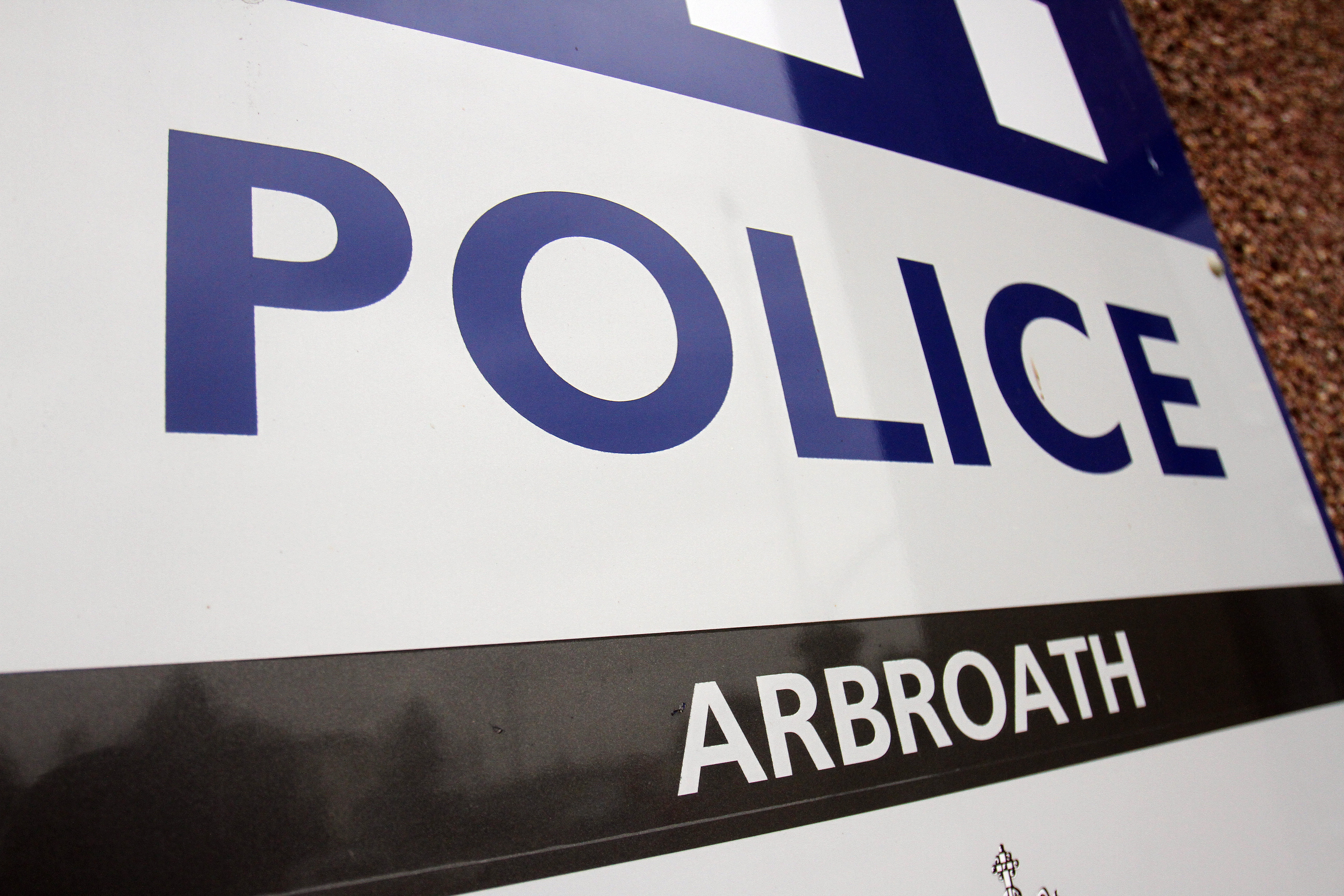 The incident happened at Arbroath Police Station.
