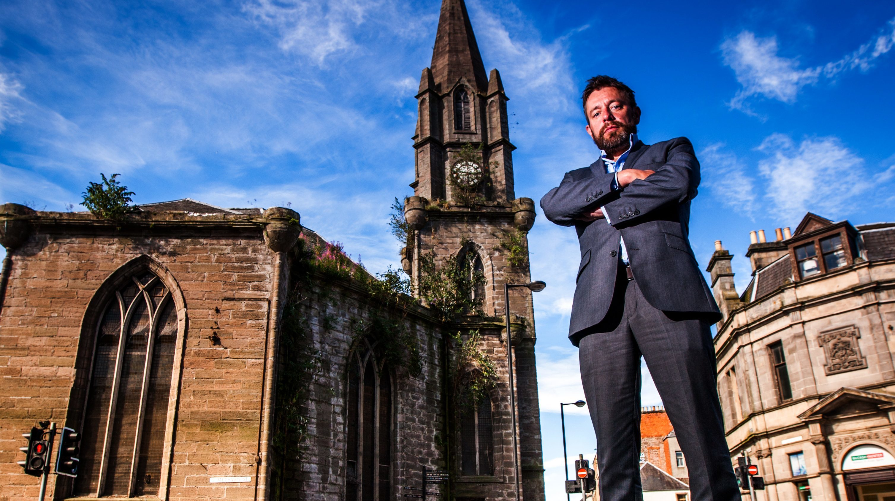 James Boyd, owner of St Pauls Church in Perth, claims he will carry out urgent repairs.