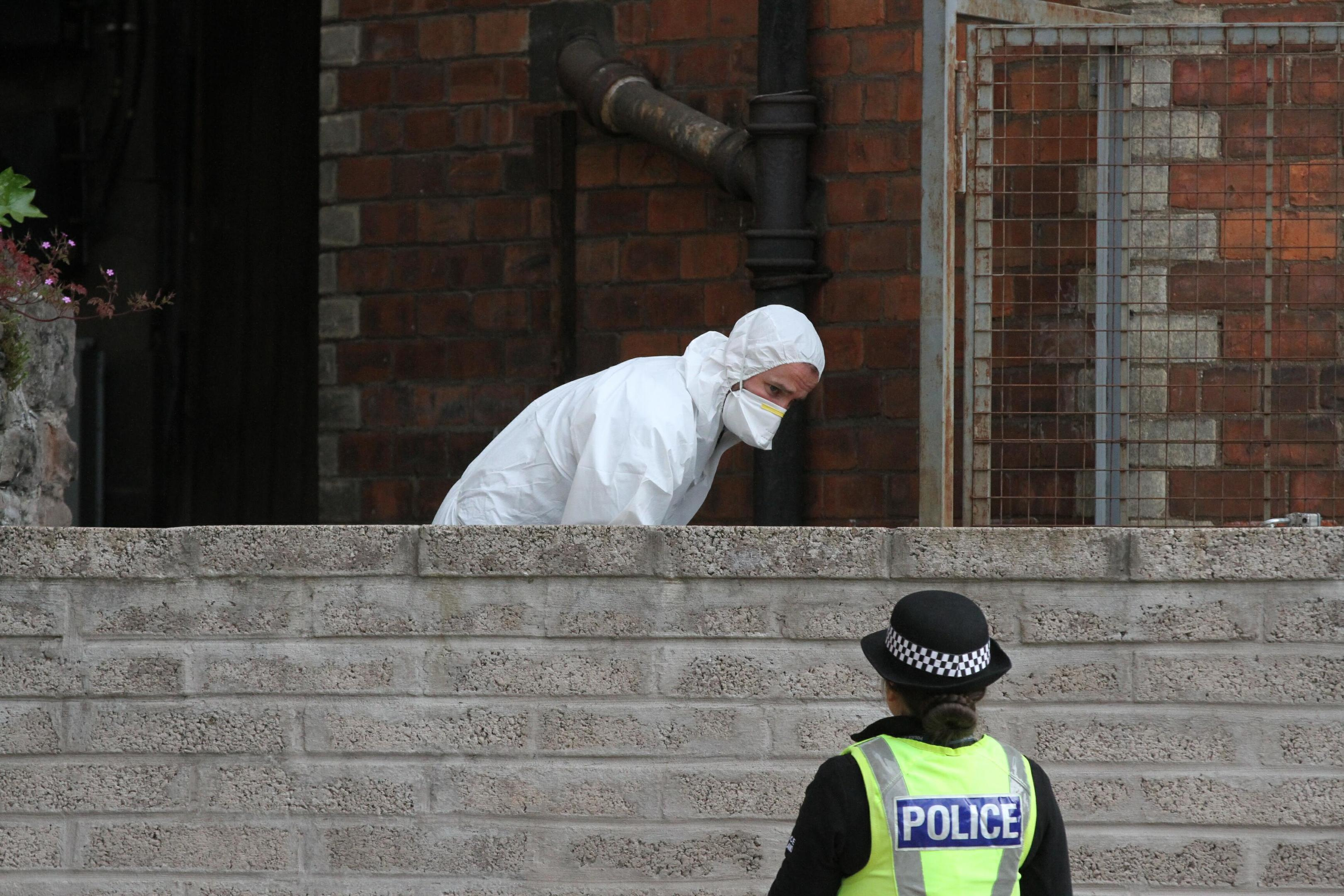 The body was found in the Nethergate on Thursday  night.