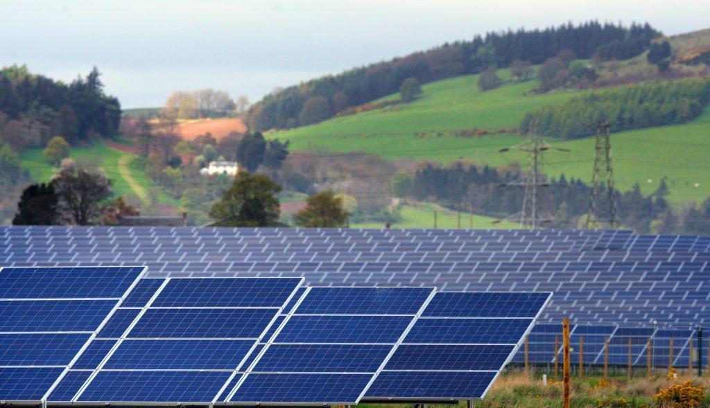 Scotlands largest solar farm, near Errol