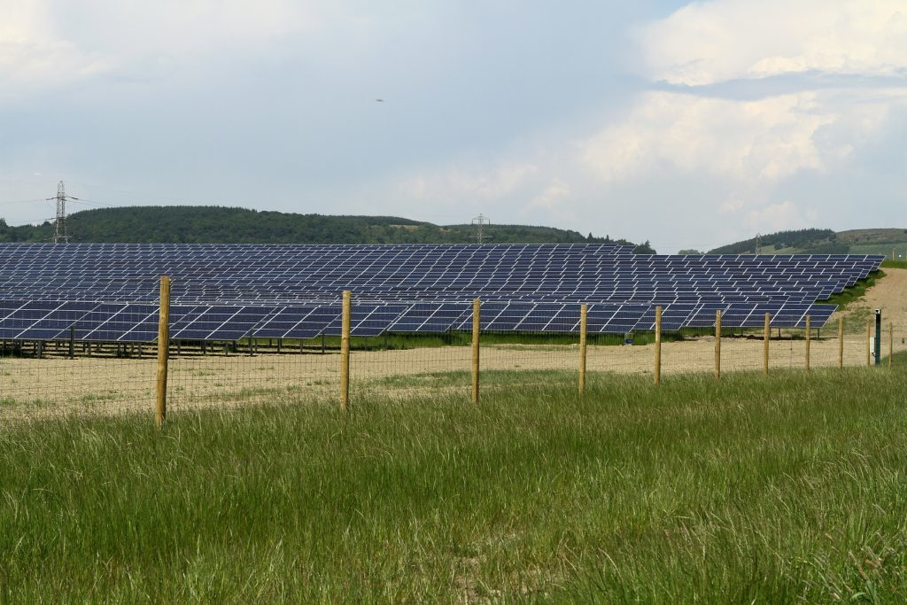 The solar farm covers around 70 acres of land in the Carse of Gowrie.