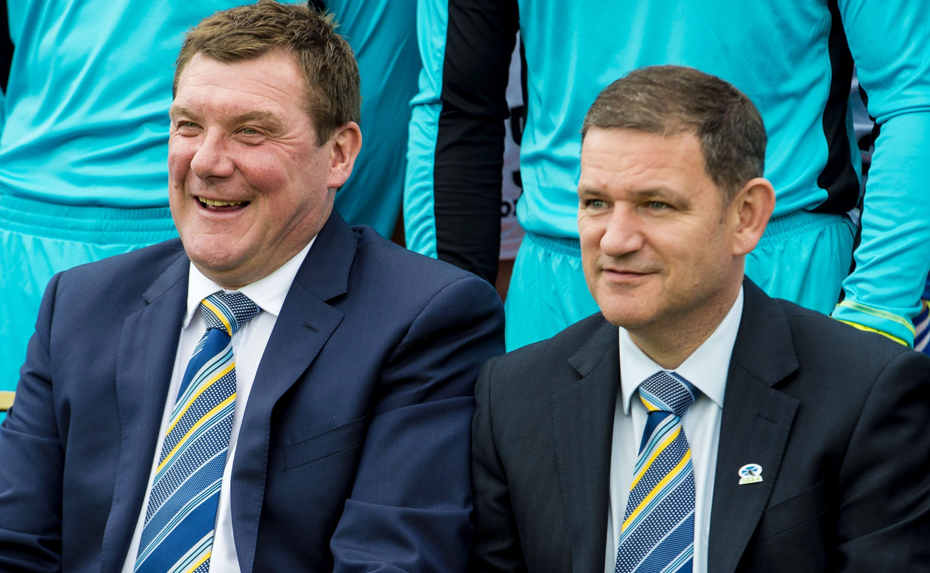 Tommy Wright and St Johnstone chairman Steve Brown.