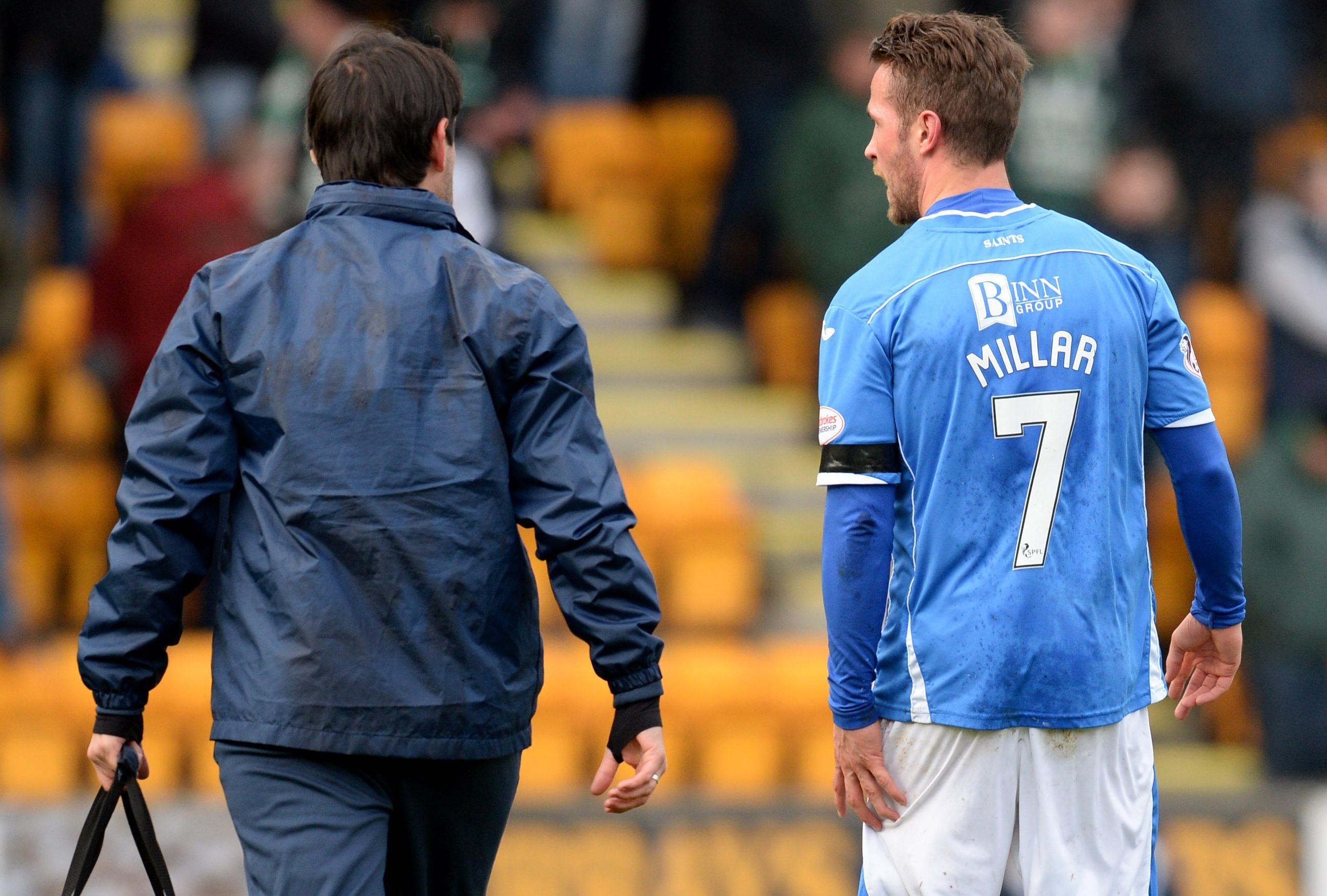 A familiar sight last season - Chris Millar trudging off the pitch.