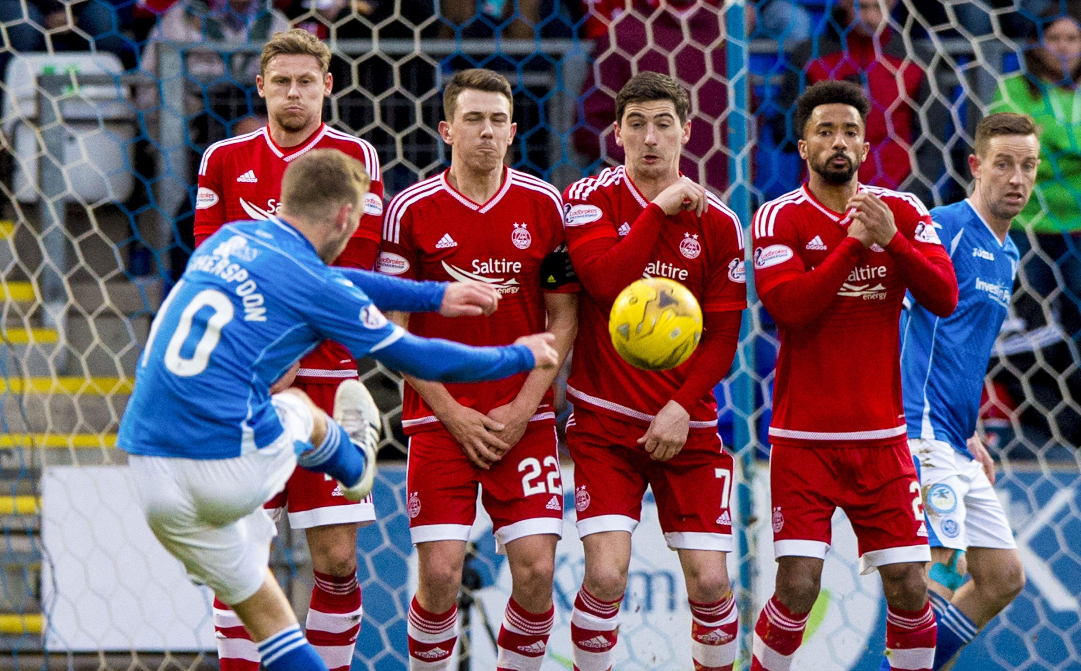 David Wotherspoon scores against Aberdeen the last time the teams met.