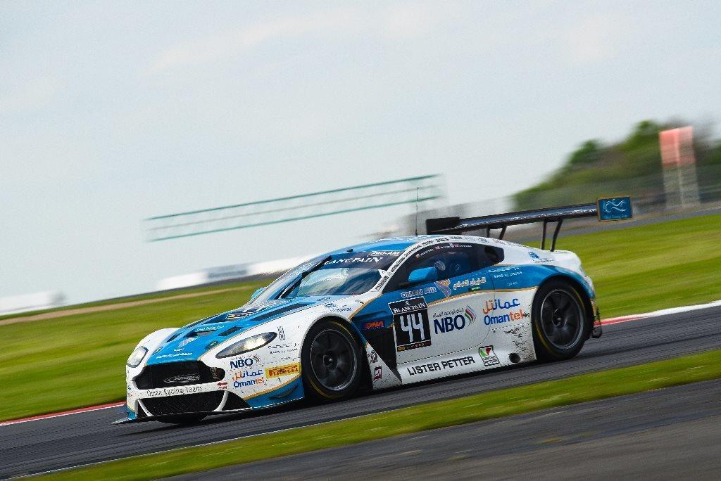 The #44 Oman Racing Team Aston Martin