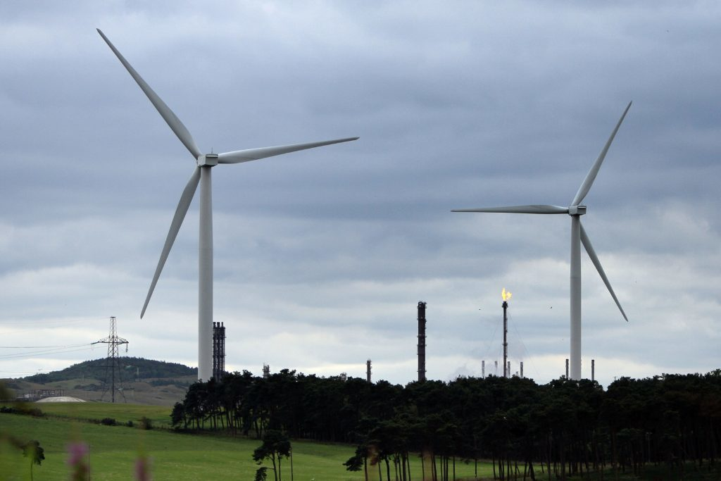 Wind turbines at Little Raith Wind Farm, near Lochgelly