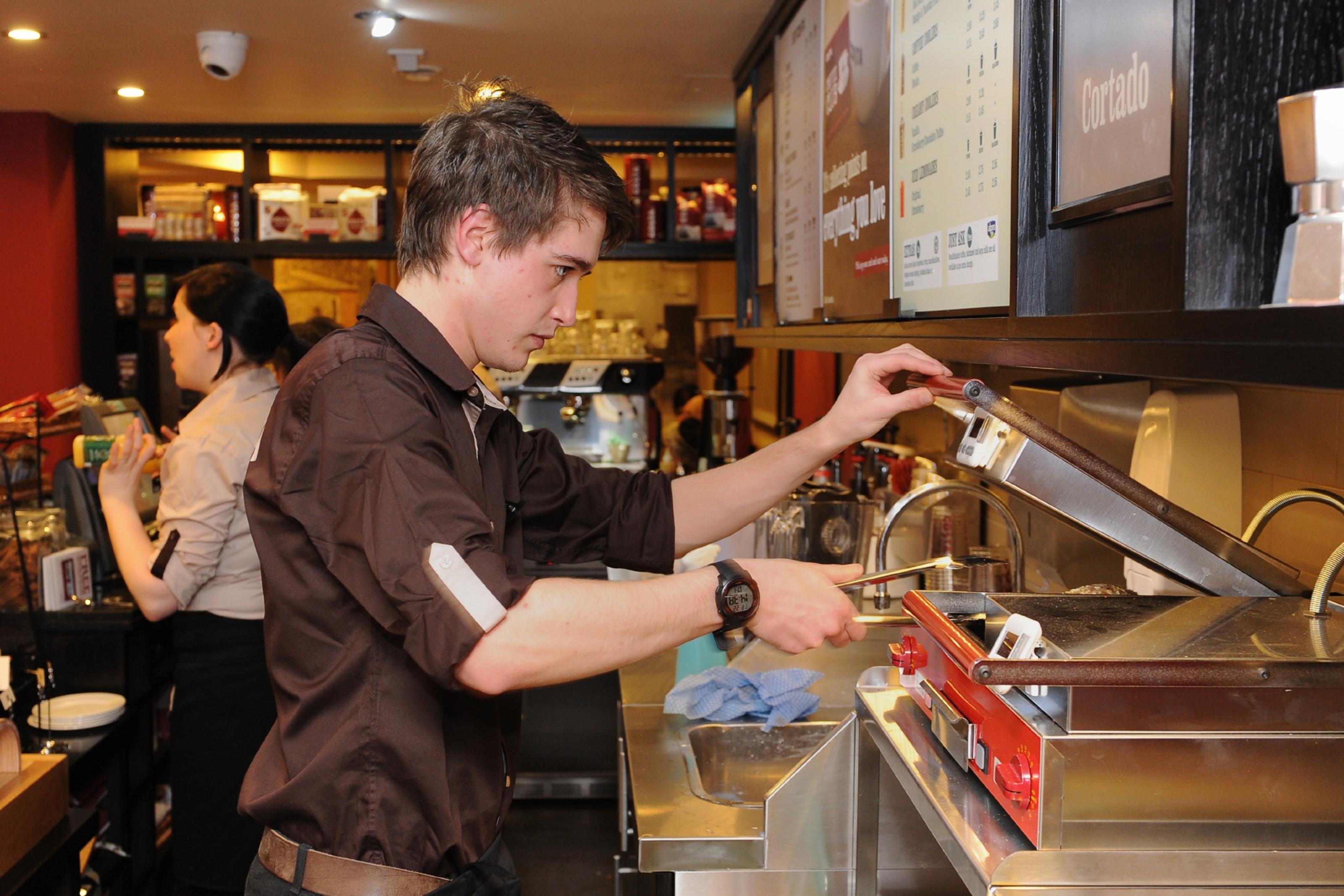 A Costa worker