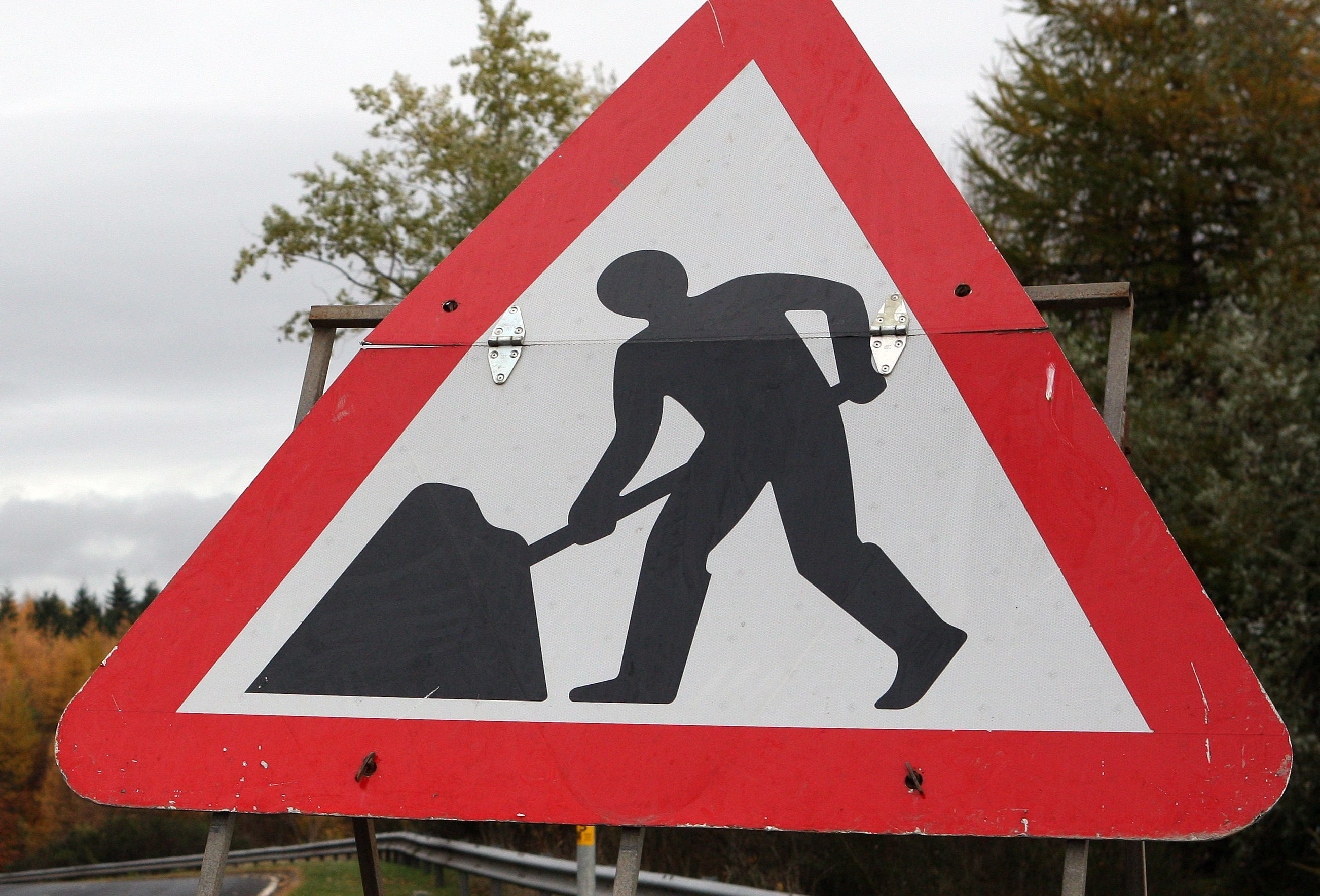 The B8019 Strathtummel Road had to be closed to traffic between 9am and 4pm daily during the repair works.