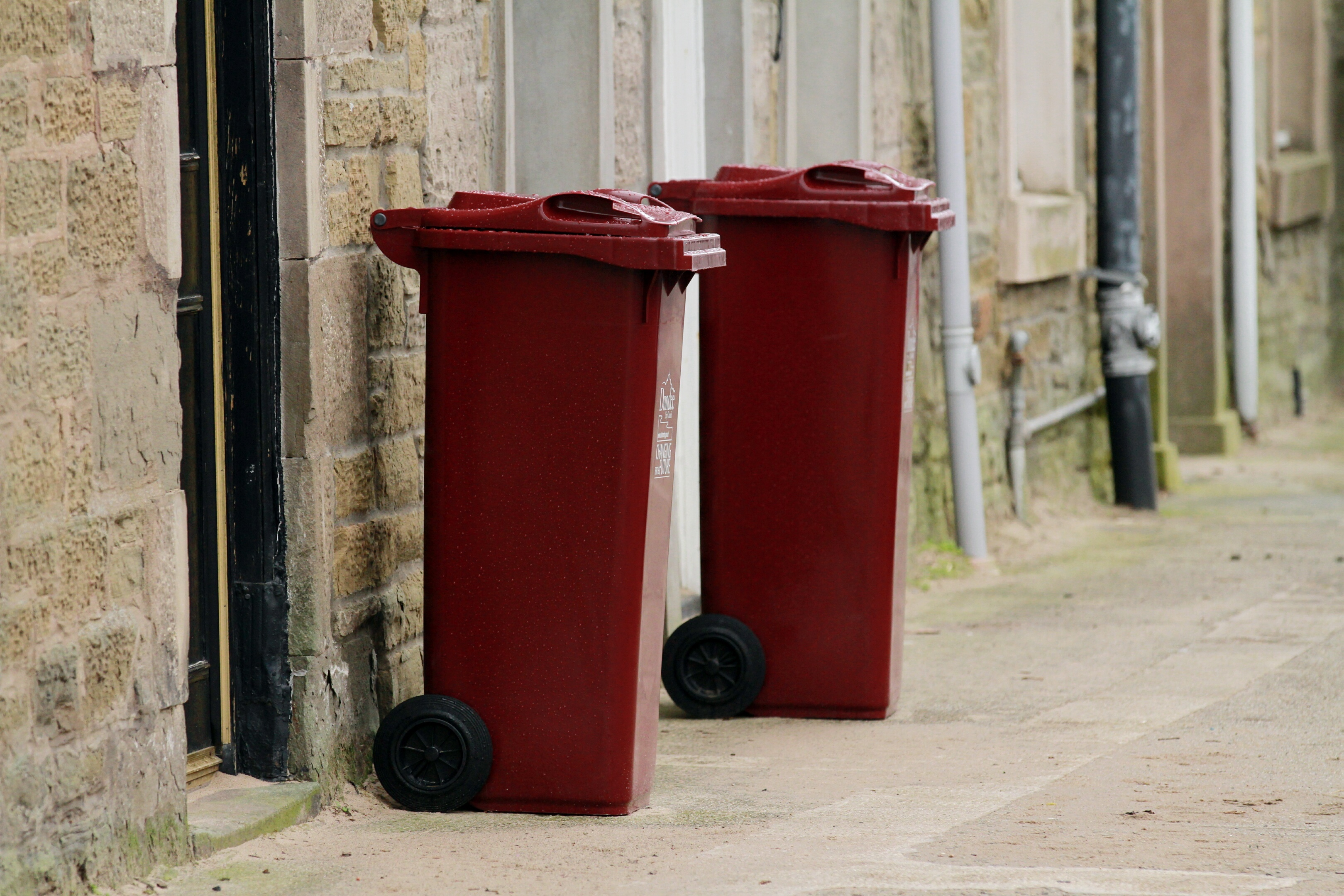 The roll-out of burgundy glass recycling bins was only one-third complete but will now be abandoned as part of the changes being implemented by Dundee City Council.