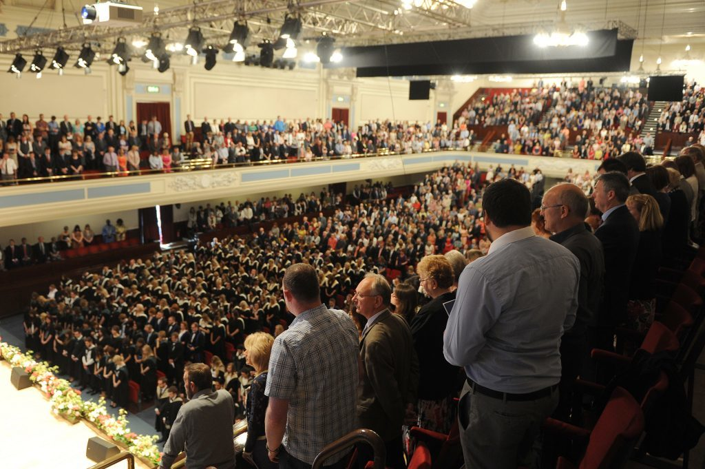 Hundreds of graduands, staff and parents at last years' ceremony