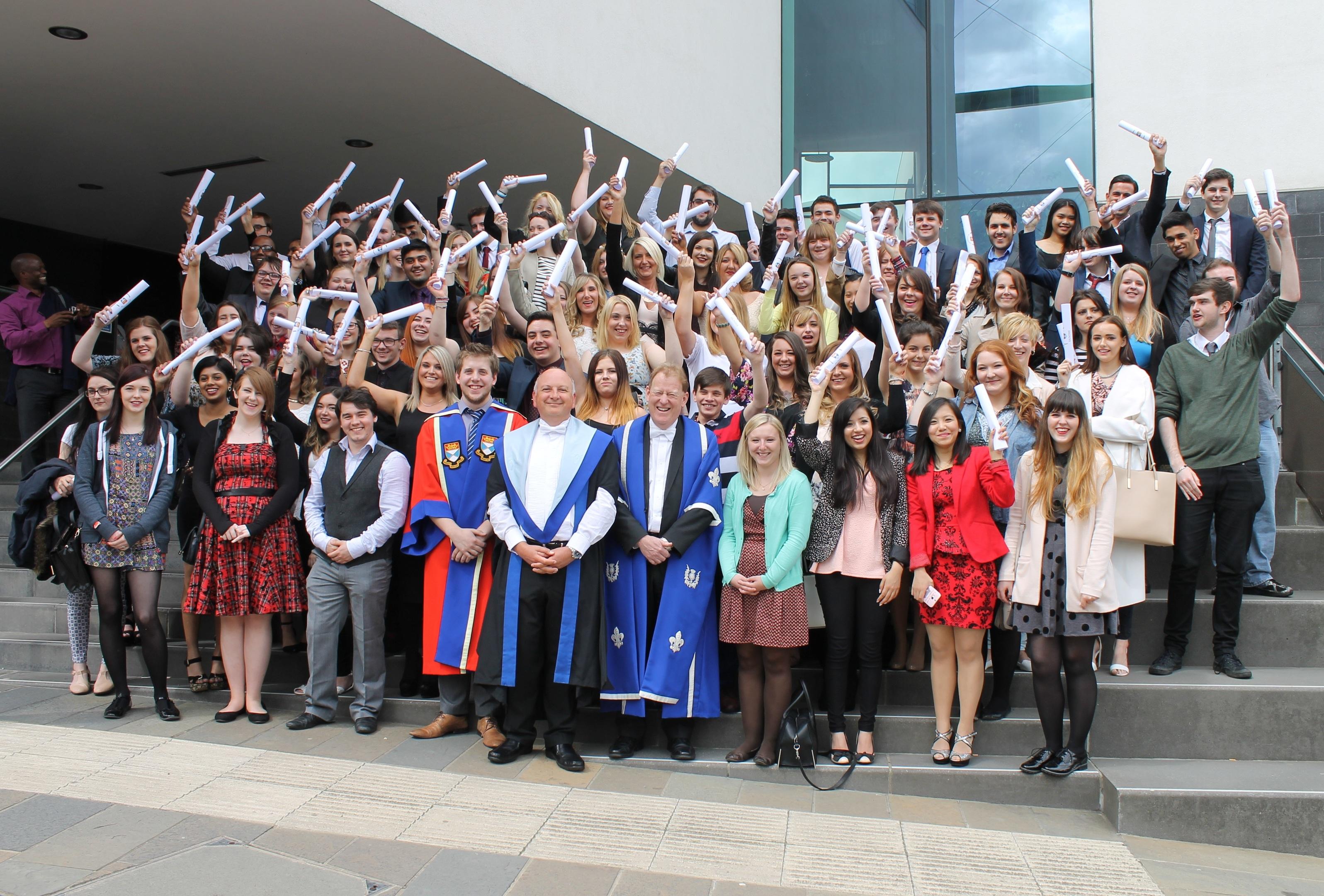 Last year's graduates of the Dundee University summer school programme