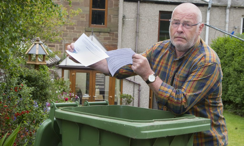 David Fairweather is not going to pay his 'green bin' collection