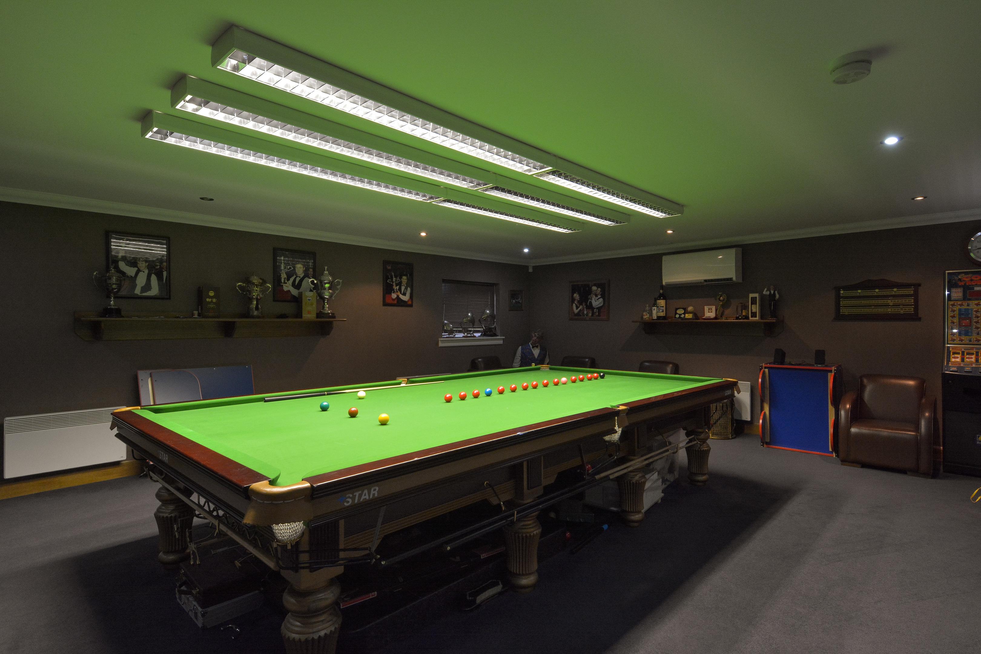 Stephen's old snooker room.