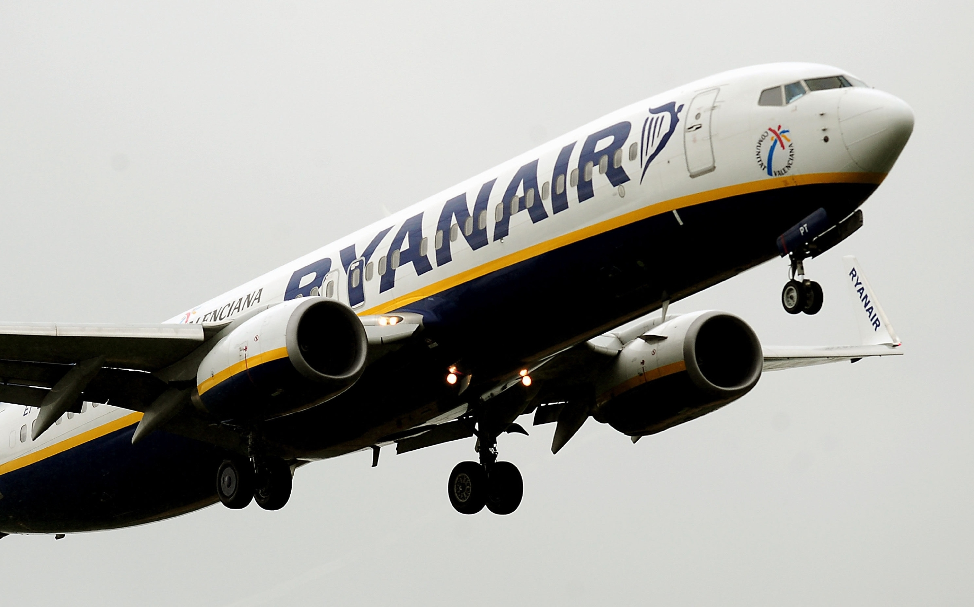 File photo dated 02/07/12 of a Ryanair plane landing. The low-fare airline has substantially increased its passenger numbers after the introduction of new routes.