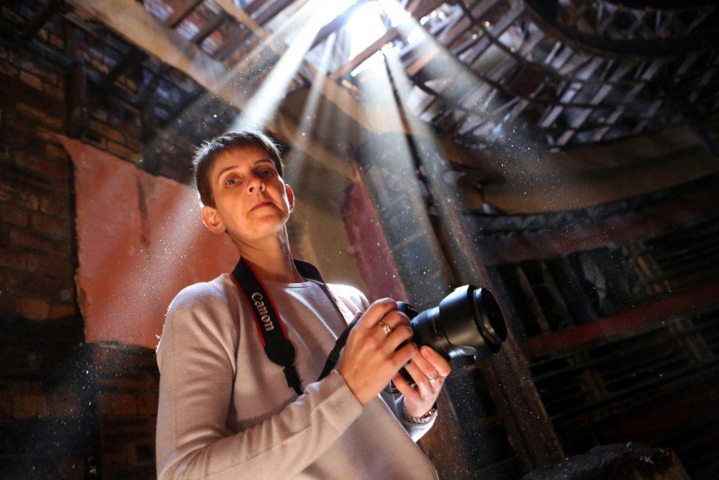 Lynn Smith inside the old ABC cinema in Kirkcaldy.