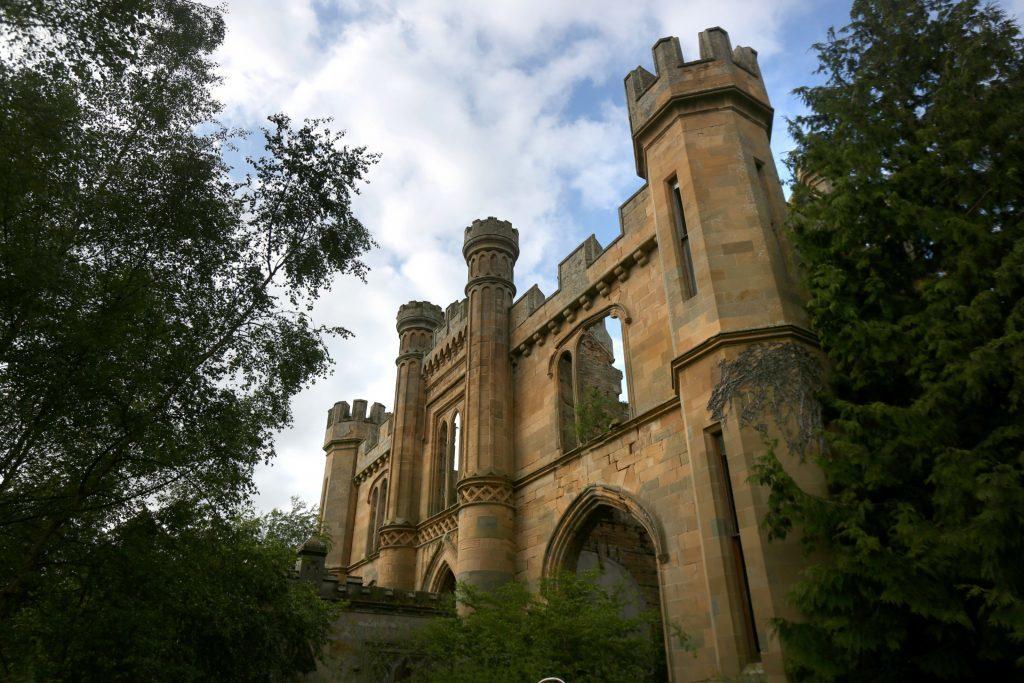 Imposing Crawford Priory near Cupar.