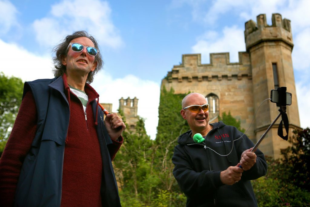 Jag and Bro Betty of SPiS explore Crawford Priory near Cupar.
