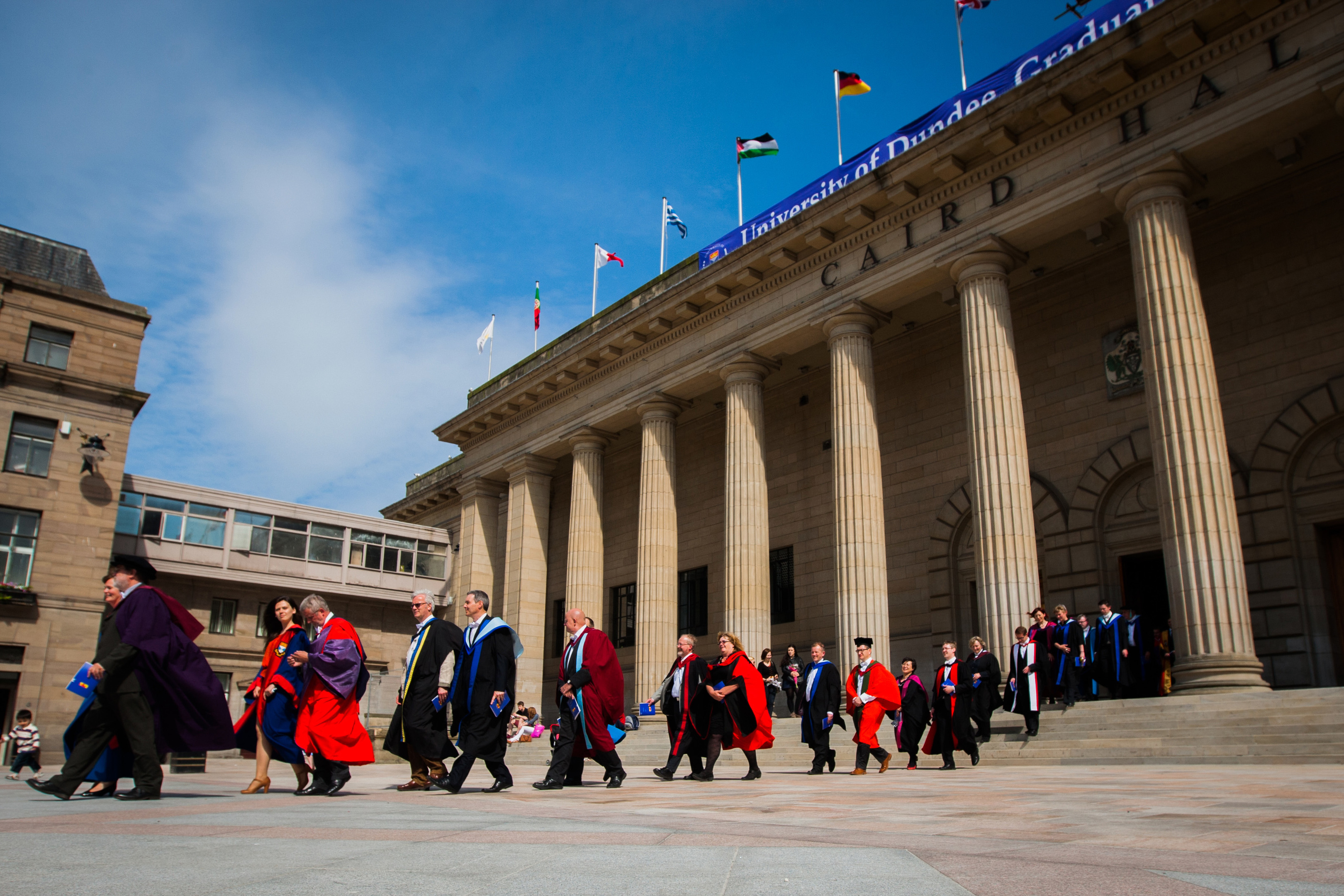 The Caird Hall and City Square will host the upcoming graduation events.