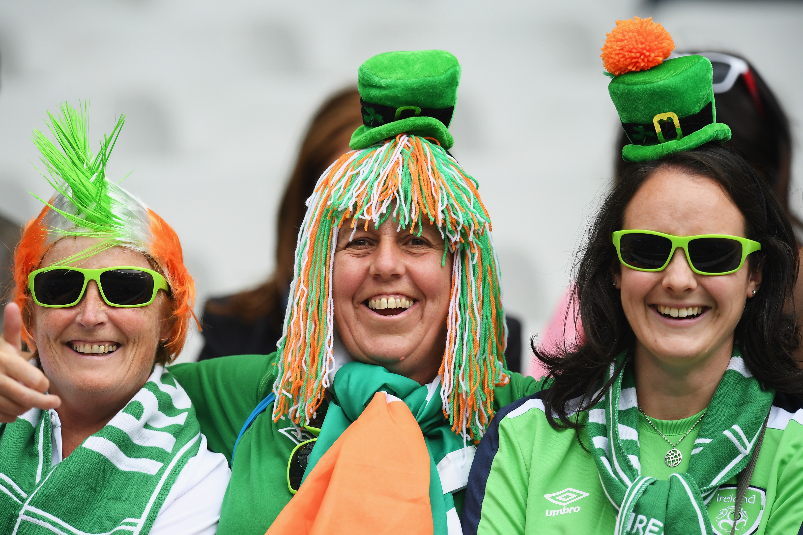 Ireland supporters enjoy the atmosphere at Euro 2016.